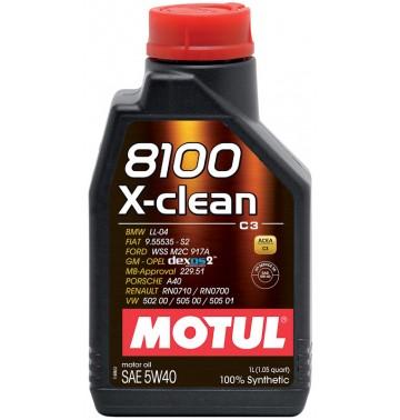 Фото - Motul 8100 X-clean 5w40 (С3). Артикул 854111